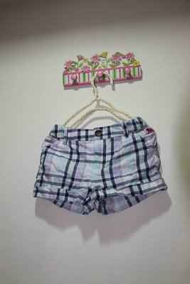 H&M 格子棉質短褲