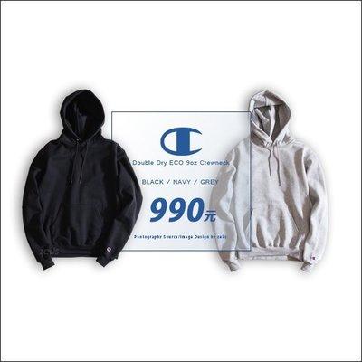 *ZEUS*Champion 2017AW Double Dry ECO 9oz Pullover/內裏刷毛保暖帽TEE