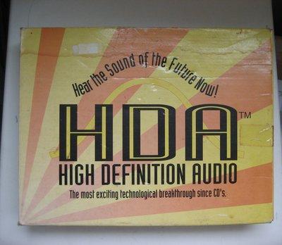 HDA HIGH DEFINITION AUDIO可讓音響變了更好聽