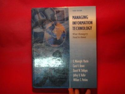 【愛悅二手書坊 13-01】Managing Information Technology: What