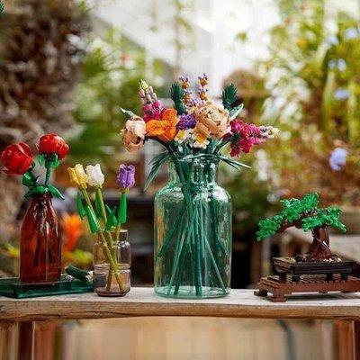 積木樂高花束10280永生花玫瑰花朵女生拼裝積木鮮花系列插花玩具 女孩