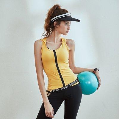 愛運動~美背性感運動連帽工字背心/彈力修身排汗和透氣速乾/跑步健身綜合訓練上衣/ R2685
