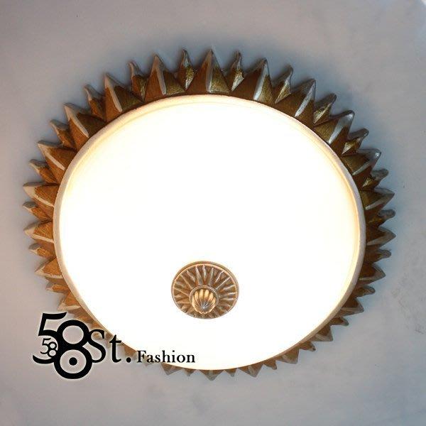 【58街】設計師款式「太陽光芒吸頂燈_大款」複刻版。GZ-196