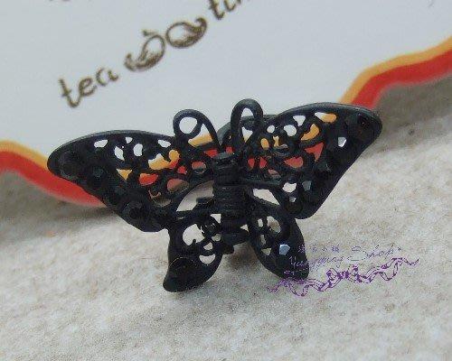 *。漾漾小舖*。維多公主風.雕工細緻飛翔蝴蝶抓夾.鍛鐵【F566】☆韓國進口