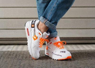 【Cool Shop】Nike Air Max 1 Just do it Orange 潮流 女鞋917691-100白