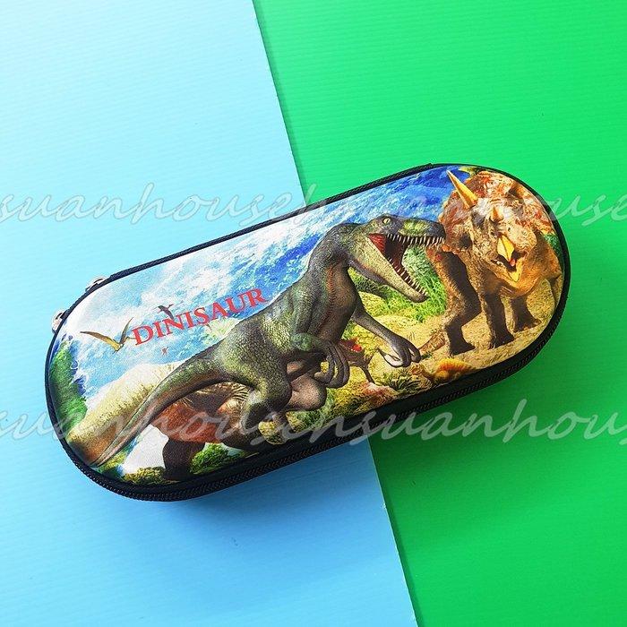 侏羅紀公園  恐龍 3D立體  筆盒 文具盒 收納盒 筆袋