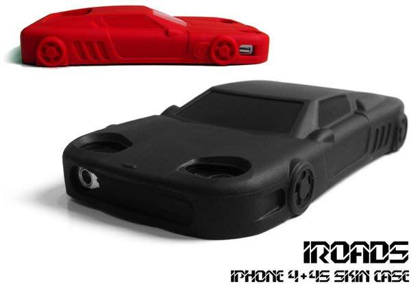 買一送一 最後出清 iROADS 跑車造型的 iPhone 4 保護套,iPhone 4S也適用,矽膠手機套果凍套