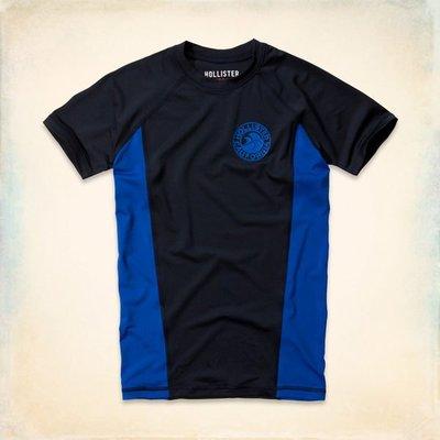 【天普小棧】HOLLISTER HCO Dockweiler Beach Rash Guard運動款舒適短T短袖T恤S號