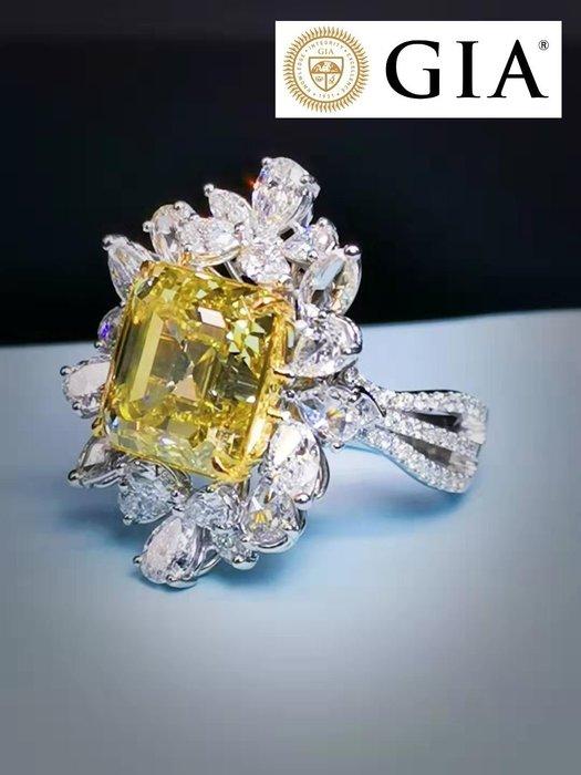 【台北周先生】天然Fancy黃色鑽石 10.03克拉 罕見巨大 VVS1 Even分布 18K金 真鑽美戒 送GIA證書