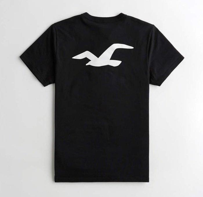 HCO Hollister 海鷗 短袖 T恤 現貨 印花 黑色
