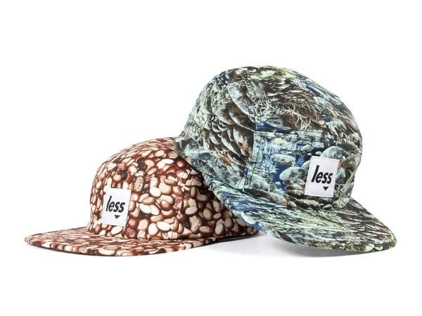 { POISON } LESS SQUARE LOGO CAMP CAP 咖啡豆溪石紋 Coffee Rock 五片帽