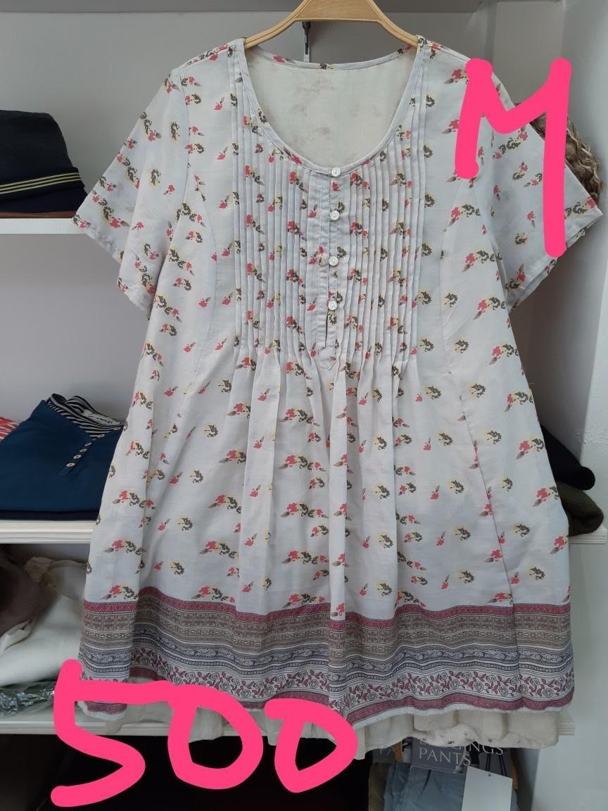 櫻花屋 日本帶回 超涼爽小花上衣
