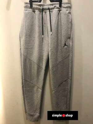 【Simple Shop】NIKE JORDAN 刺繡 刷毛 縮口褲 棉褲 運動長褲  喬丹 灰色 CD8740-091