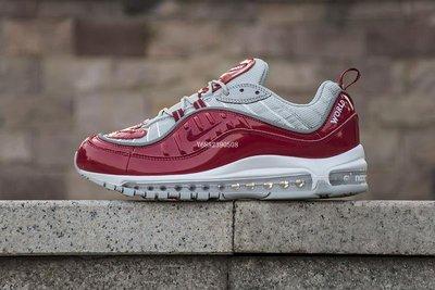 Nike Air Max 98 紅灰 漆皮 氣墊 經典 休閒慢跑鞋 844694-600 男女