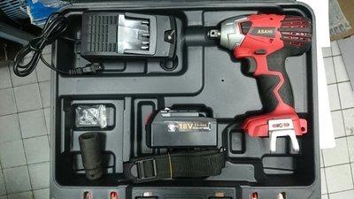 可刷卡 日本ASAHI 18V4.0AH三星鋰電(單電池) 電動起子機/充電電動板手扭力450n.m icd1431