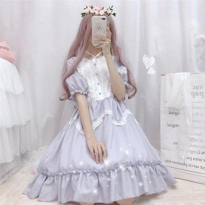 LO娘連身裙lolita裙洛麗塔白菜價日常裙子正版原創輕lo學生便宜廠貨蘿莉塔