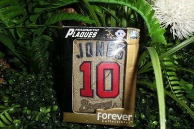 ^.^飛行屋(全新品)MLB美國職棒 亞特蘭大勇士隊#10號 奇伯·瓊斯 CHIPPER JONES銘牌 擺飾品!!