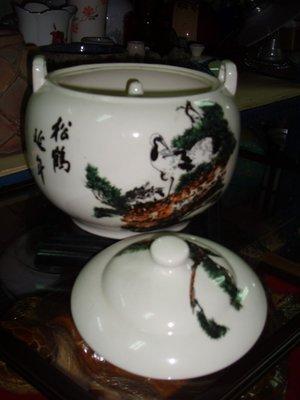 """收藏一隻金門""""宏玻陶瓷""""松鶴延年的漂亮汽鍋,收藏與使用的好物件"""