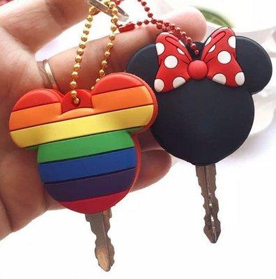 驢友之家 卡套創意矽膠鑰匙套男女學生可愛情侶保護套時尚鑰匙扣掛件2枚裝