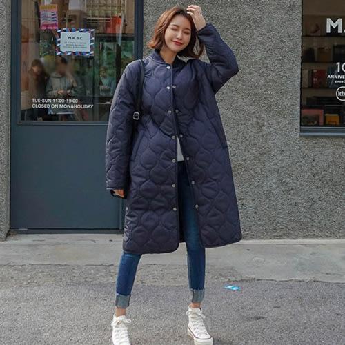 i-Mini 正韓|超長版大腿也保暖到鋪棉釘釦外套|2色‧ 韓國連線‧代購‧空運【10192260LY】