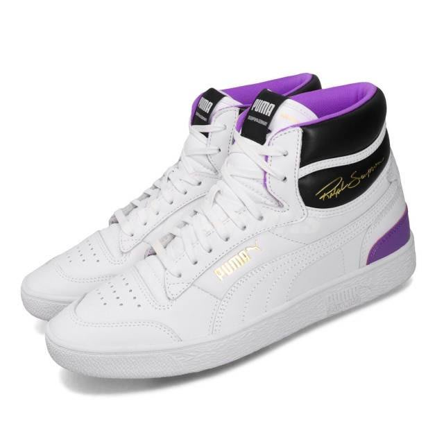 POMELO柚  Puma 休閒鞋 Ralph Sampson Mid 白 紫 男鞋 運動鞋