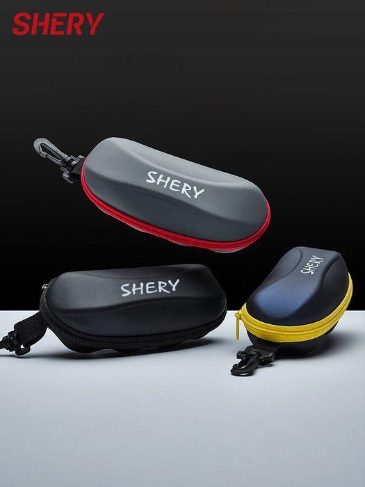爆款熱賣-大號眼鏡盒墨鏡盒男女款簡約便攜抗壓太陽鏡盒拉鏈創意眼睛盒