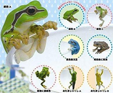 【售完】奇譚 PUTITTO 杯緣子 青蛙杯緣子 雨後青蛙 樹蛙。小全6種入 (缺5與6)