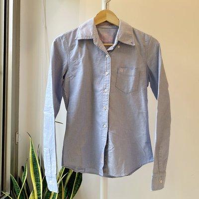 POLO Jeans Co. 淺藍 排扣 長袖襯衫 S