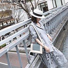小幸運女裝大喜自制2019春裝新款復古雙排扣西裝大哥廓西女馬甲短褲時尚套裝