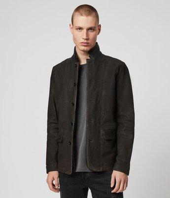 [ Satisfaction ] 英國品牌All Saints經典款真皮西裝Suvey Leather Blazer