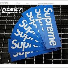 [ACE27 艾斯設計專賣店]supreme藍底中張  防水彩貼 單速車 GRIME 貼紙  FIXED