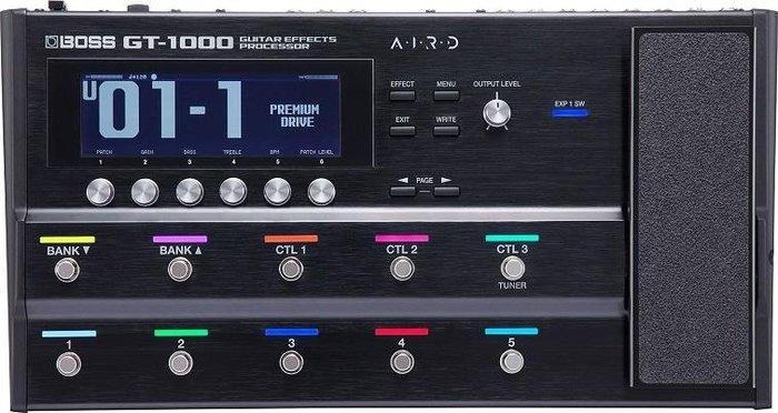 ☆唐尼樂器︵☆ Boss GT-1000 頂級 旗艦機種 超強大高階地板型電吉他綜合效果器(籃芽控制)