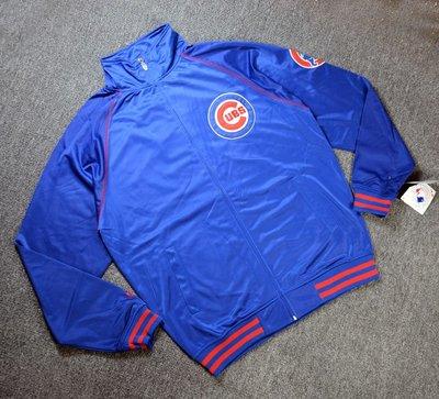 Cover Taiwan 官方直營 MLB 芝加哥 小熊隊 嘻哈 夾克 外套 90s 撞色 拼接 復古 藍色 (預購)