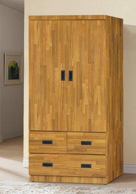【南洋風休閒傢俱】精選時尚衣櫥 衣櫃 置物櫃 拉門櫃 造型櫃設計櫃- 集層木3*6尺衣櫥 CY182-36