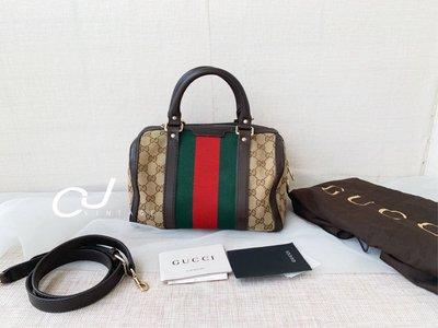 ✨ CJ Vintage✨日本二手正品Gucci小號波士頓枕頭包手提斜背包