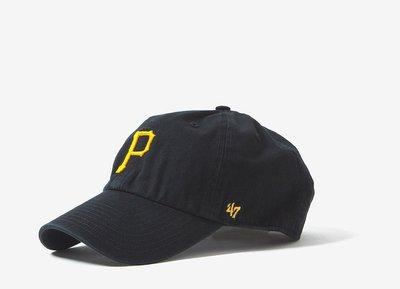 【YZY台灣】47 BRAND PIT PIRATES 匹茲堡海盜 老帽 復古帽 老爺帽 MLB LOGO 經典 黑色