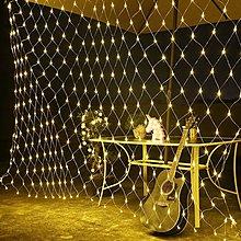 現貨:魚網燈 LED聖誕燈串3公尺*2米/200顆LED彩燈 帶尾接可串接聖誕樹裝飾/燈飾/庭院造景燈 窗簾燈氣氛裝飾燈