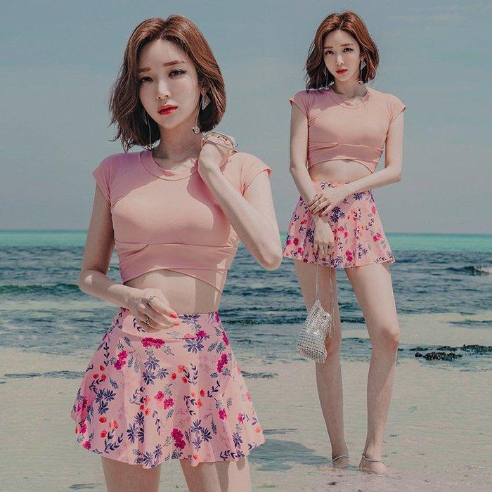 [奕蔻]2003泳衣 比基尼 潛水衣 連身泳衣 泳裝泳衣女士保守分體裙式新款比基尼韓國溫泉游泳裝bikini速6