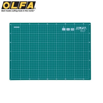 又敗家@日本OLFA雙面切割墊CM-A3(經典綠)雙面裁墊切割布墊切墊A3切割墊4開裁墊防滑墊板切割板美工板美工墊工作墊工具墊寫字墊模型墊組裝墊美勞墊