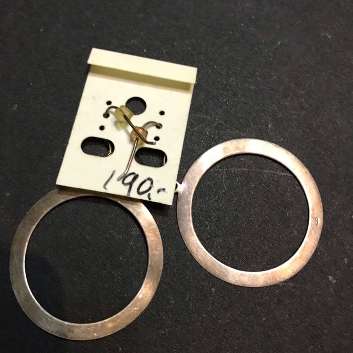 銀925 耳環 二手新品 重7公克 Dia x4cm