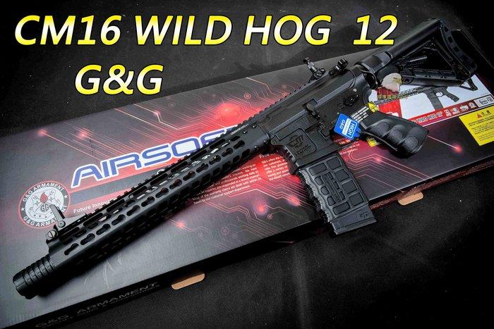 【翔準軍品AOG】G&G CM16 WILD HOG 12 半金屬 動步槍 M16 卡賓槍 M4 生存遊戲 步槍 CM1