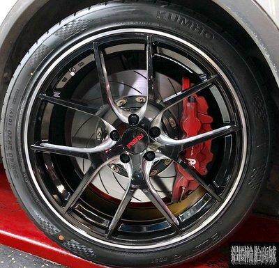 全新鋁圈 RSM RB01 20吋鋁圈 亮黑底側銑 5孔112 5孔114.3 VW 福斯 tiguan 實裝圖