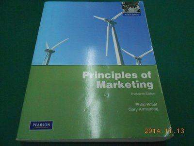 《Principles of Marketing》八成新 Thirteenth Edition 有劃記