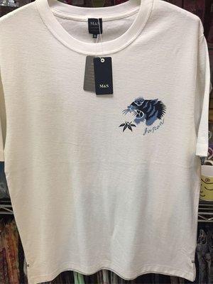 [變身館日本服飾]~M&S~短袖ㄒ恤~短t~富士山~老虎~橫須賀~純棉~日本購入~竹節棉~涼感~全新商品~LL~現品