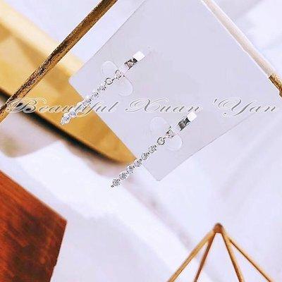 ※美麗萱言※《耳環》S925純銀 鋯石晶鑽垂墜式純銀耳環 璀璨亮麗 耳針易扣式 全新正品㊣現貨