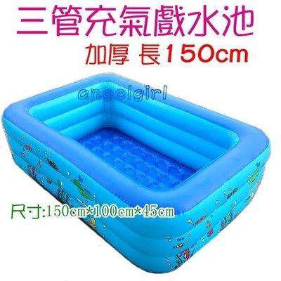 紅豆批發百貨/加高150cm三管加厚充氣游泳池戲水池釣魚池/泳池浴池戲水池充氣游泳圈/浮板浮圈 戲水玩具