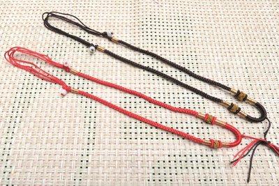 518中國結綁繩.扣頭專賣--中國結綁繩--N66   翡翠玉墜 掛件綁繩  ( 咖啡色,紅色) 買10條送1條
