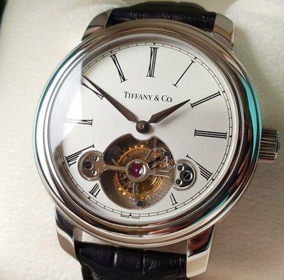 Tiffany & Co. 稀有PT950  頂級寶雞式陀飛輪 限量腕表