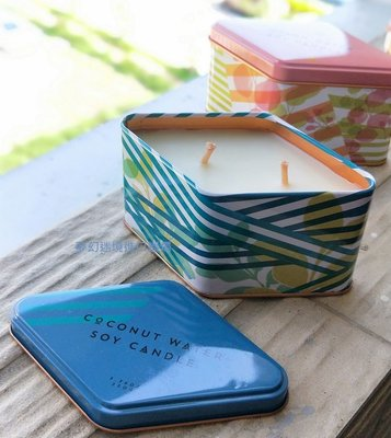 現貨~草本24代理品牌~ILLUME Coconut Water黃瓜水,椰子水帶蓋的錫盒蠟燭:7.75盎司