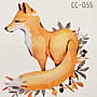 【萌古屋】狼單圖CC-055 - 防水紋身貼紙刺青貼紙K37